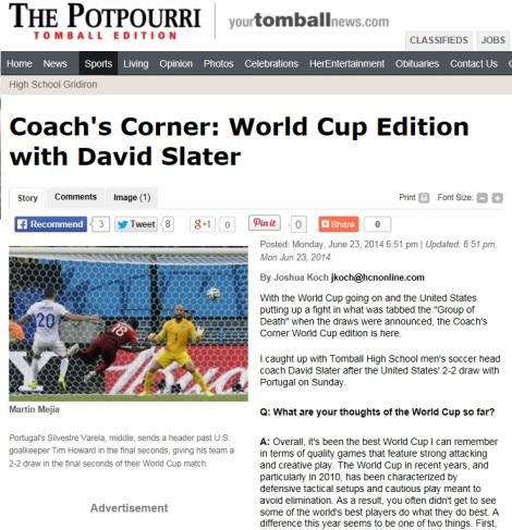 Tomball Potpourri Article